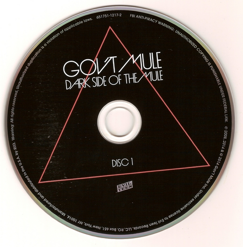 (Classic Rock, Blues-Rock, Jam Bands, Hard Rock) [CD] Govt Mule - Dark Side Of The Mule (Deluxe Edition)(3CD+DVD) - 2014, FLAC (image+.cue), lossless